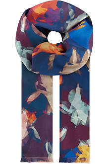 PAUL SMITH ACCESSORIES Double-sided photogram silk scarf