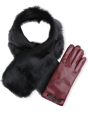 PAUL SMITH ACCESSORIES Neck warmer & glove set