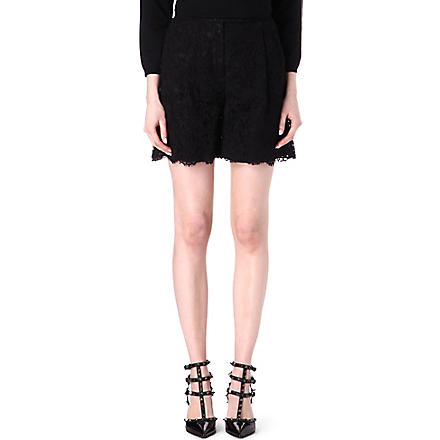VALENTINO Lace shorts (Black