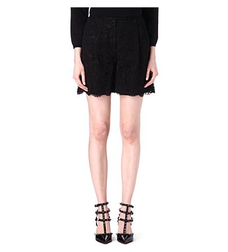 VALENTINO Lace shorts (Black