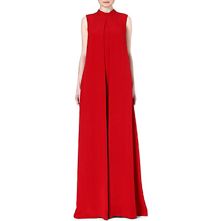 VALENTINO Sleeveless silk jumpsuit (Red