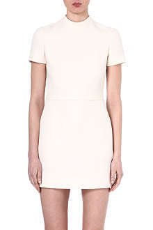 VALENTINO Crepe high-neck mini dress