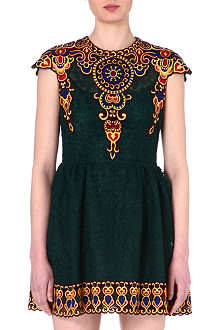 VALENTINO Embroidered lace mini dress