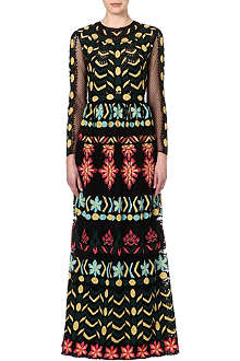 VALENTINO Embroidered mesh gown