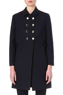 VALENTINO Military wool-blend coat