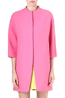 VALENTINO Collarless cropped-sleeved coat