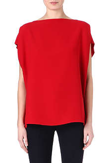 VALENTINO Silk short-sleeved tunic top