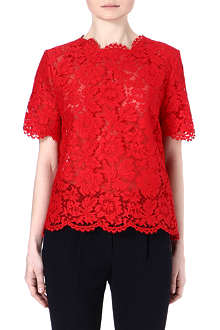 VALENTINO Lace short-sleeved top