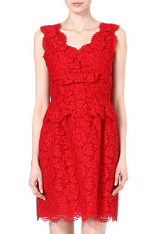 VALENTINO Lace bow dress