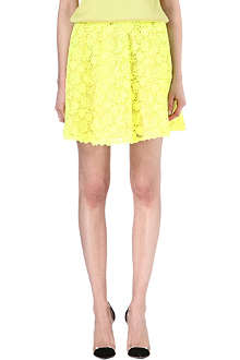 VALENTINO Fluorescent lace mini skirt