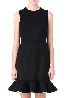 VALENTINO Sleeveless frill hem dress