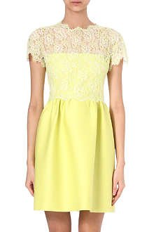 VALENTINO Lace and wool dress