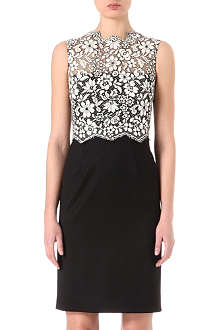 VALENTINO Contrast lace dress
