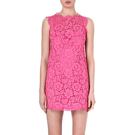 VALENTINO Lace bow-detail dress (Pink