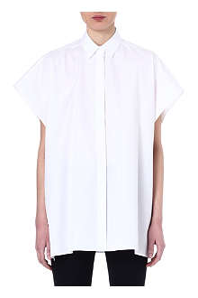 VALENTINO Cap-sleeved cotton shirt