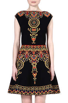 VALENTINO Baroque pattern knitted dress