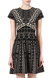 VALENTINO Tribal jacquard dress