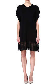 VALENTINO Fringe-trimmed dress