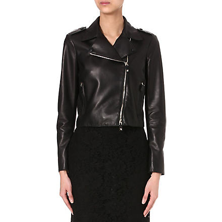 VALENTINO Leather biker jacket (Black