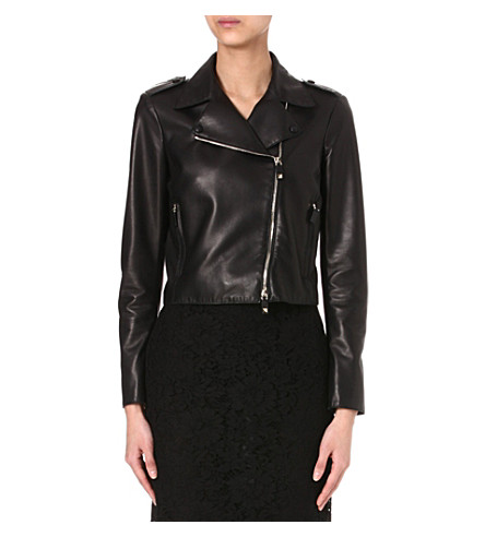 VALENTINO Leather biker jacket (Black