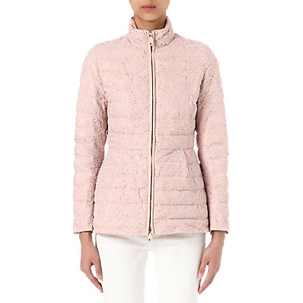 VALENTINO Lace quilted jacket (Rose