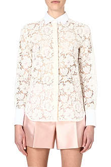 VALENTINO Lace sheer shirt