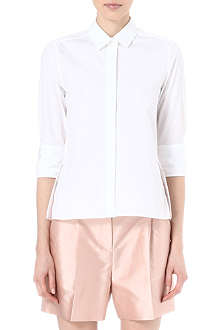 VALENTINO Peplum-back cotton shirt