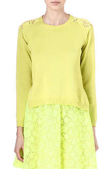VALENTINO Lace-detailed jumper