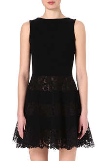 VALENTINO Lace panel dress