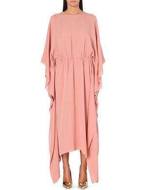 VALENTINO Draped silk maxi dress