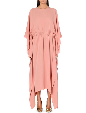 VALENTINO Draped silk maxi dress
