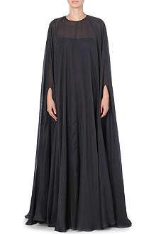 VALENTINO Kaftan chiffon cape gown