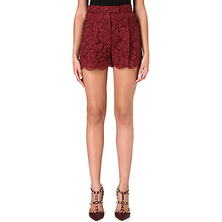 VALENTINO Lace-detail shorts (Scarlett