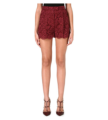 VALENTINO High-waisted lace shorts (Scarlett