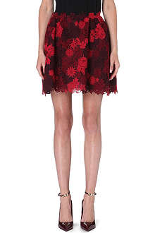 VALENTINO Lace-detail mini skirt