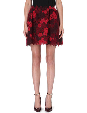 VALENTINO Lace mini skirt