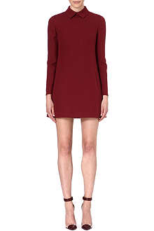 VALENTINO Long-sleeved wool and silk-blend dress