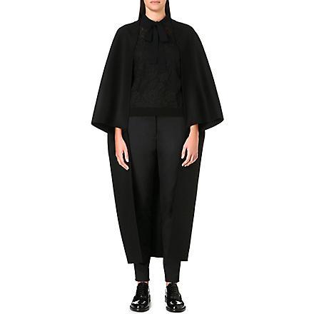 VALENTINO Open wide-sleeved coat (Black