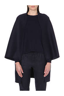 VALENTINO Wide-sleeved wool-blend cape