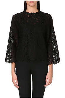 VALENTINO Long-sleeved lace top