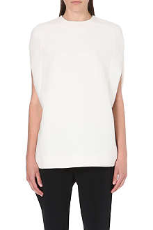 VALENTINO Split-sleeve wool and silk top