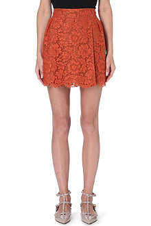 VALENTINO Lace mini skirt