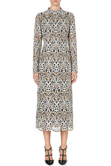 VALENTINO Heavy lace midi dress