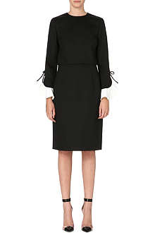 VALENTINO Contrast cuff dress