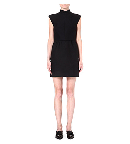 VALENTINO High-neck wool-blend dress (Black