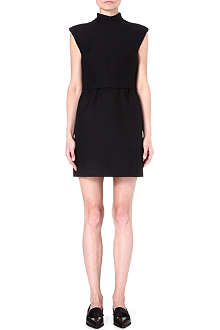 VALENTINO High-neck wool-blend dress
