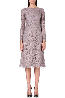 VALENTINO Lace-detail A-line dress