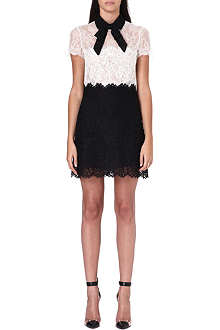 VALENTINO Monochrome lace bow dress