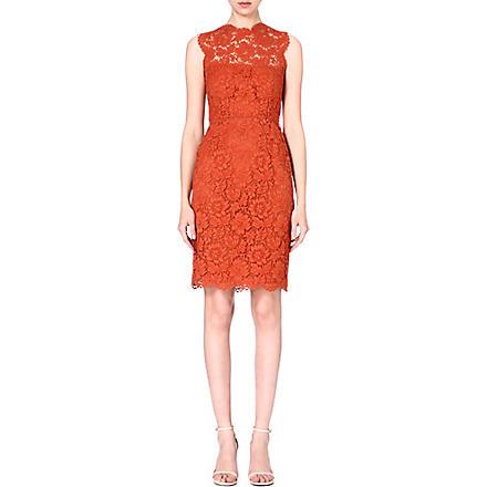 VALENTINO Sleeveless lace dress (Orange