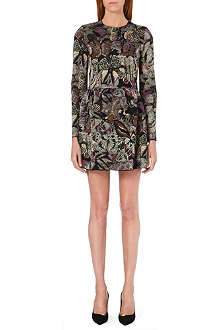 VALENTINO Butterfly-detail jacquard-knit dress